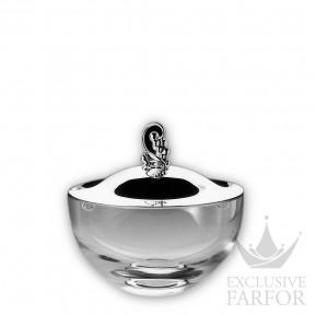 """50803030 Robbe & Berking Столовые наборы """"925 серебро"""" Чаша из хрусталя с серебряной крышкой и оправой"""