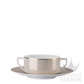 10460-404308-10435 Rosenthal Francis Carreau Beige Чаша суповая с блюдцем 0,35л