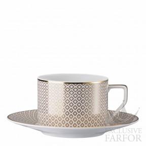 10460-404308-14640 Rosenthal Francis Carreau Beige Чашка чайная с блюдцем 0,23л
