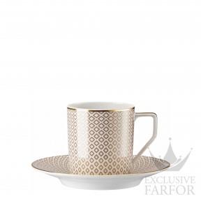 10460-404308-14740 Rosenthal Francis Carreau Beige Чашка кофейная с блюдцем 0,18л