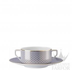 10460-404307-10435 Rosenthal Francis Carreau Bleu Чаша суповая с блюдцем 0,35л