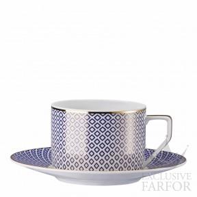 10460-404307-14640 Rosenthal Francis Carreau Bleu Чашка чайная с блюдцем 0,23л