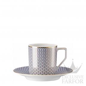 10460-404307-14740 Rosenthal Francis Carreau Bleu Чашка кофейная с блюдцем 0,18л