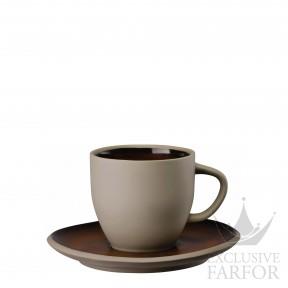 21540-405252-64740 Rosenthal Junto Bronze Чашка кофейная с блюдцем 0,24л