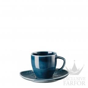 10540-405202-14715 Rosenthal Junto Ocean Blue Чашка эспрессо с блюдцем 0,08л
