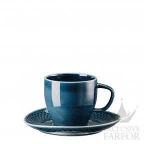 10540-405202-14740 Rosenthal Junto Ocean Blue Чашка кофейная с блюдцем 0,23л