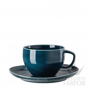 10540-405202-14850 Rosenthal Junto Ocean Blue Чашка Café au лait с блюдцем 0,40л