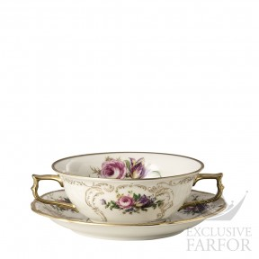 20480-308550-10420 Rosenthal Sanssouci Elfenbein Diplomat Чаша суповая с блюдцем 0,31л