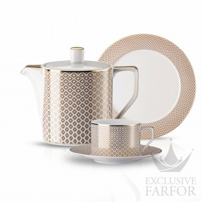 10460-404308-2 Rosenthal Francis Carreau Beige Чайный сервиз на 6 персон, 21 предмет