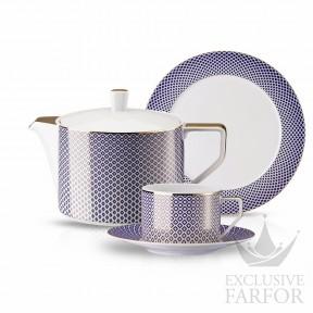 10460-404307-2 Rosenthal Francis Carreau Bleu Чайный сервиз на 6 персон, 21 предмет