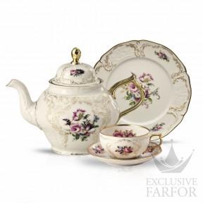 20480-308550-2 Rosenthal Sanssouci Elfenbein Diplomat Чайный сервиз на 6 персон, 21 предмет