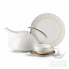11280-403255-2 Rosenthal TAC Skin Gold Чайный сервиз на 6 персон, 21 предмет