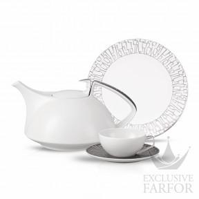 11280-403239-2 Rosenthal TAC Skin Platin Чайный сервиз на 6 персон, 21 предмет