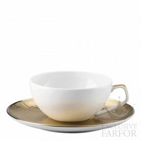 11280-403255-14640 Rosenthal TAC Skin Gold Чашка чайная с блюдцем 0,24л