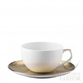 11280-403255-14770 Rosenthal TAC Skin Gold Чашка с блюдцем 0,30л