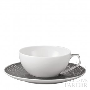 11280-403239-14640 Rosenthal TAC Skin Platin Чашка чайная с блюдцем 0,24л