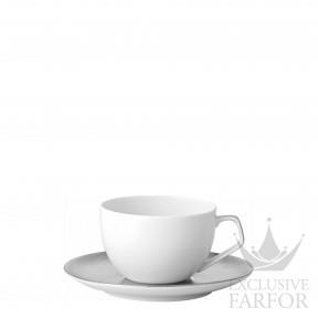 11280-403239-14715 Rosenthal TAC Skin Platin Чашка эспрессо с блюдцем 0,12л