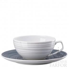 11280-403261-14640 Rosenthal TAC Stripes 2.0 Чашка чайная с блюдцем 0,24л