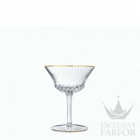 "30108400 St. Louis Apollo ""Gold rim"" Бокал-блюдце ""Шале"" для шампанского 180мл"