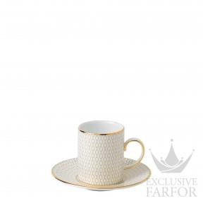 1058007 Wedgwood Arris Чашка еспрессо с блюдцем 80мл