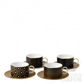 40007555 Wedgwood Arris Чашка чайная с блюдцем, 4шт.